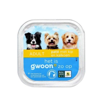 Gwoon Paté Met Kip & Kalkoen 150g/ Dog food Chicken and Turkey