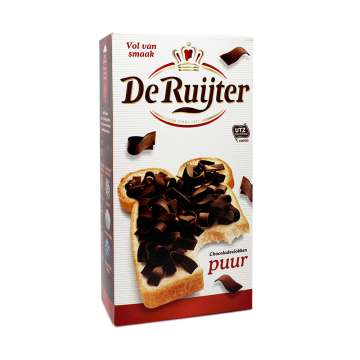 De Ruijter Chocolade Vlokken Puur 300g/ Black Chocolate Sprinkles