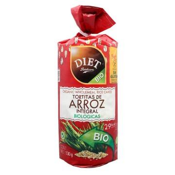 Diet Rádisson Tortitas Arroz Integral 100g/ Whole Grain Rice Cakes