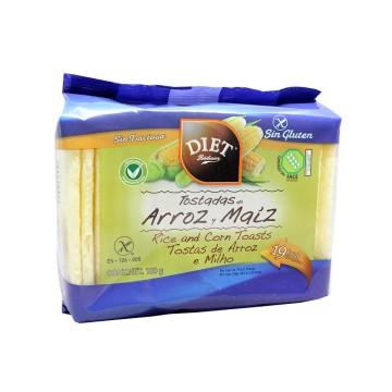 Diet Rádisson Tostadas de Arroz y Maíz Sin Gluten 100g/ Gluten Free Rice&Corn Toasts