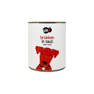 Ok€ Brokken In Saus Met Rund 1,24Kg/ Dog food Beef in Sauce