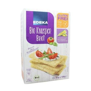 Edeka Bio Glutenfrei Knusper Brot 130g/ Tostadas de Maíz