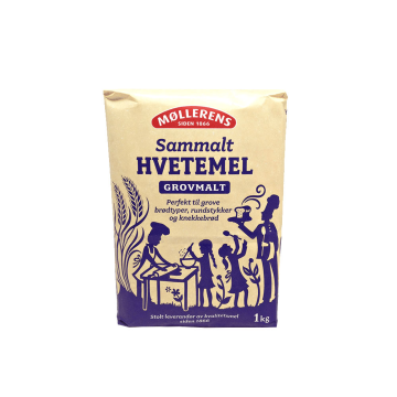 Møllerens Sammalt Hvetemel Grovmalt 1Kg/ Coarse Whole Wheat Flour
