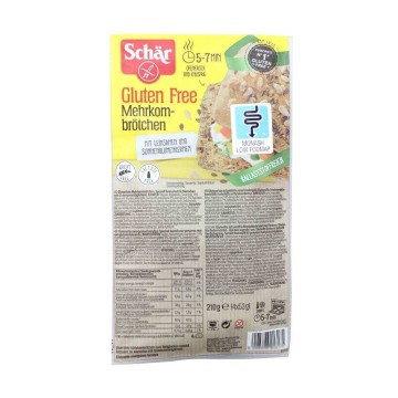 Schär Mehrkornbrötchen Glutenfrei 210g/ Gluten Free Bread