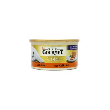 Gourmet Gold Met Kalkoen 85g/ Comida para Gato Pavo