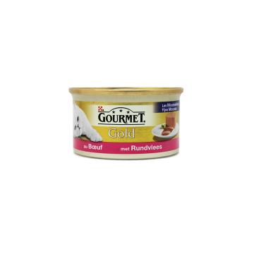 Gourmet Gold Met Rundvlees 85g/ Comida para Gato Vaca