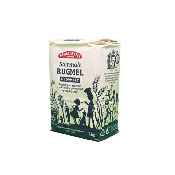 Møllerens Sammalt Rugmel Grovmalt 1Kg/ Coarse Whole Rye Flour