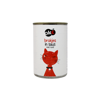Ok€ Brokjes In Saus Met Rund 415g/ Cat food Beef