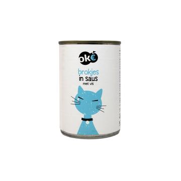 Ok€ Brokjes In Saus Vis 415g/ Comida Gato Pescado