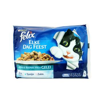 Felix Malse Reepjes Vis In Gelei 4x85g/ Cat food Meat in Sauce