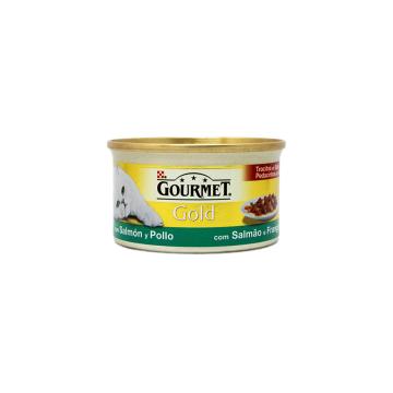 Gourmet Gold Zalm & Kip 85g/ Comida Gato para Salmón y Pollo