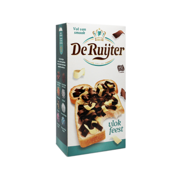 De Ruijter Vlok Feest 300g/ White and Black Choco Sprinkles